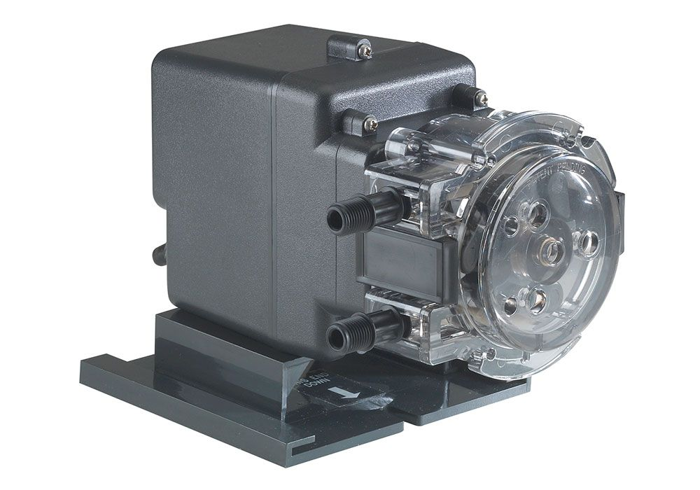Rated at 100 psi Motor and Pump Head only Rated at 22 GPD Fixed Head Model Number 45MFH7 Stenner Pump 45MPHP22 120 Volts Stenner Peristaltic Pump Fixed Head - Ideal Chlorine Injection Pump